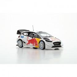 Miniature FORD Fiesta WRC Spark - Red Bull - Test 2018 S.Ogier - J.Ingrassia